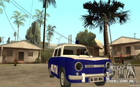 Dacia 1100 Militie para GTA San Andreas vista traseira