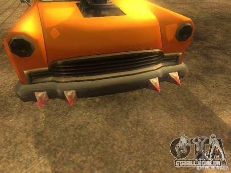 Crazy CABBIE para GTA San Andreas traseira esquerda vista