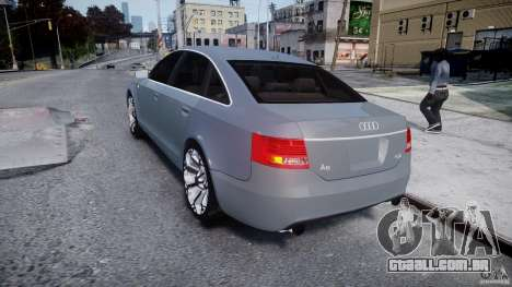 Audi A6 TDI 3.0 para GTA 4 traseira esquerda vista