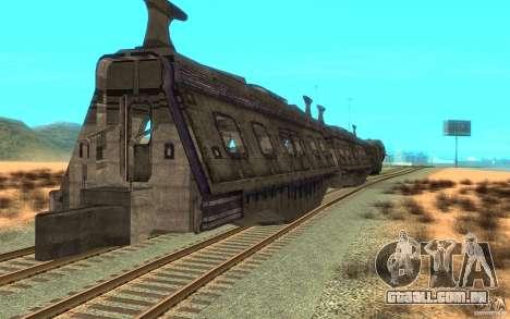Um trem do jogo Aliens vs Predator v1 para GTA San Andreas vista direita