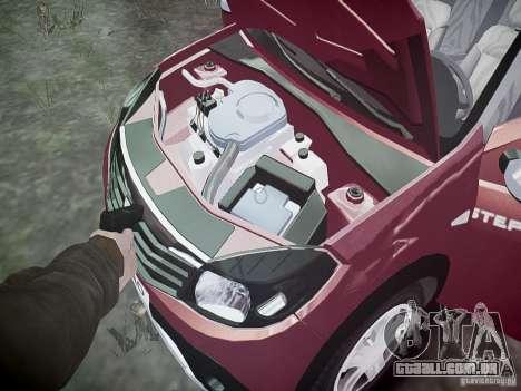 Dacia Sandero Stepway para GTA 4 vista inferior