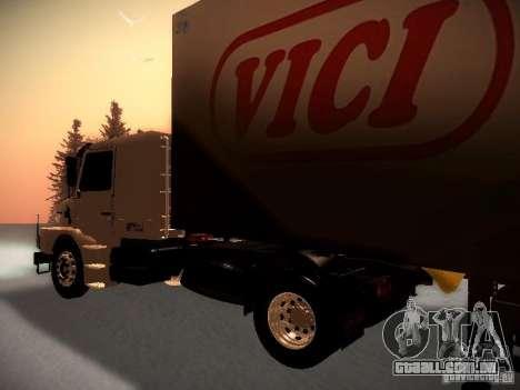 Scania T112 para GTA San Andreas traseira esquerda vista