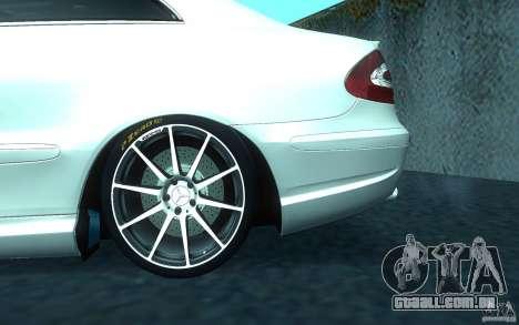 Mercedes-Benz CLK55 AMG para GTA San Andreas vista superior