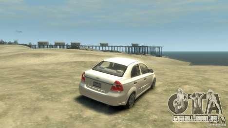 Chevrolet Aveo 2007 para GTA 4 vista direita