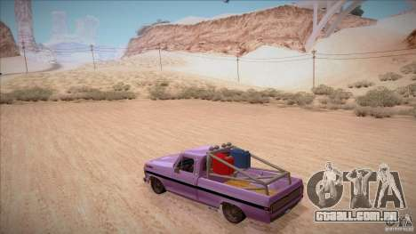 Ford F100 XLT Custom 1971 para GTA San Andreas vista inferior