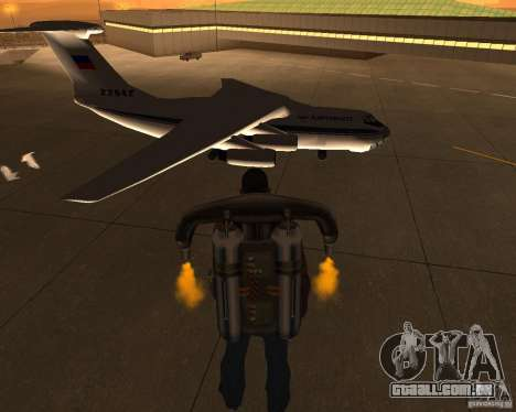 O IL-76 para GTA San Andreas vista direita
