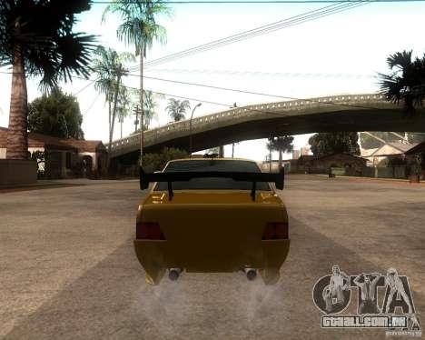 VAZ 21099 carro Tuning para GTA San Andreas traseira esquerda vista