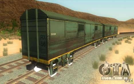 Um trem do jogo Half-Life 2 para GTA San Andreas vista interior