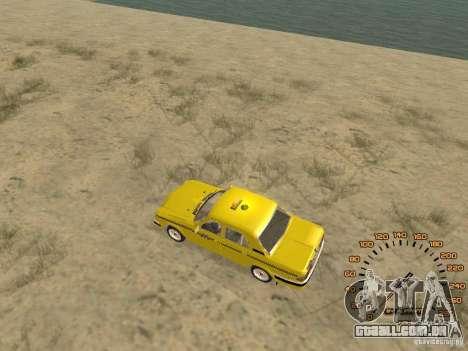 Gaz-31105 táxi para GTA San Andreas traseira esquerda vista