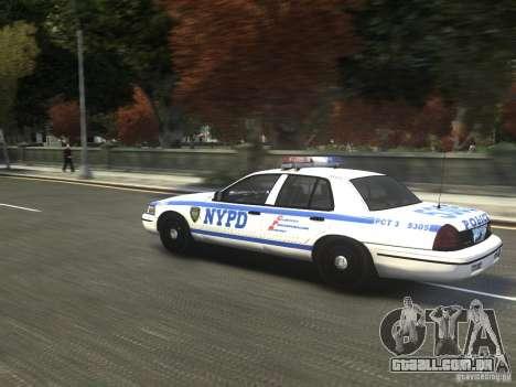 Ford Crown Victoria NYPD 2012 para GTA 4 traseira esquerda vista