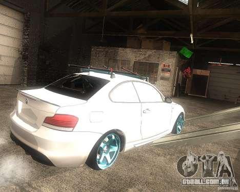 BMW 135i Hella Drift para GTA San Andreas traseira esquerda vista