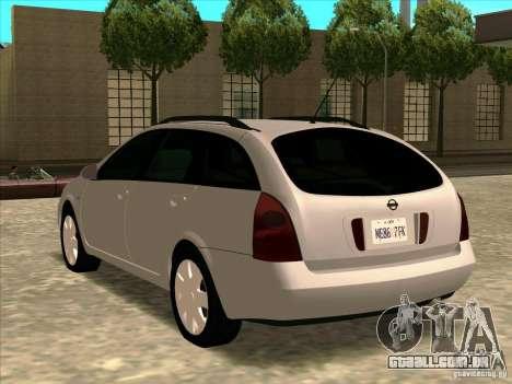 Nissan Primera Wagon para GTA San Andreas esquerda vista