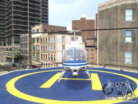 Bell 206 B - NYPD para GTA 4 vista direita