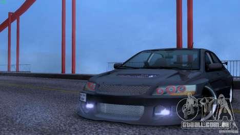 Mitsubishi Lancer Evolution 8 Drift para GTA San Andreas vista traseira