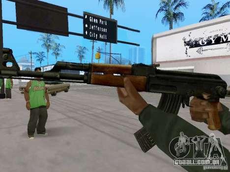 AKC - 47 HD para GTA San Andreas segunda tela