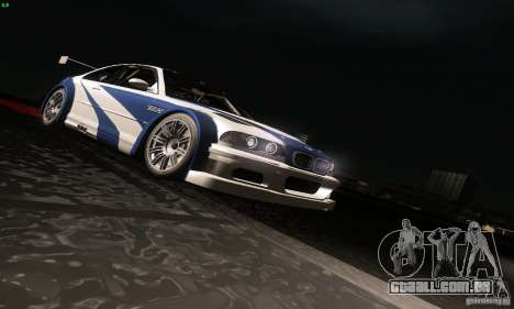 BMW M3 GTR para GTA San Andreas vista inferior