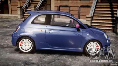 Fiat 500 Abarth SS para GTA 4 vista interior
