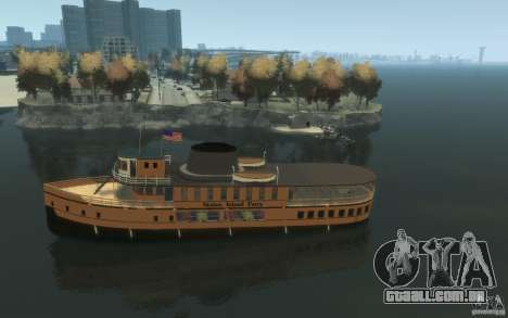 Staten Island Ferry para GTA 4 esquerda vista