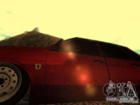 Ferrari Vaz 21099 para GTA San Andreas vista traseira