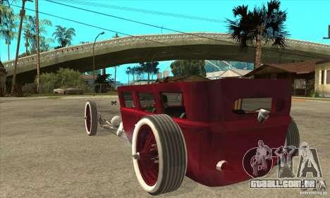 HotRod sedan 1920s no extra para GTA San Andreas traseira esquerda vista