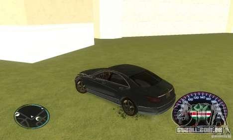 Chechen Speedometr para GTA San Andreas por diante tela
