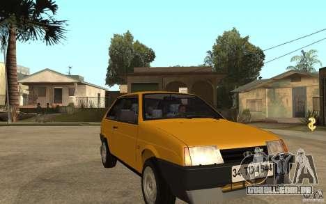 VAZ Lada Samara 2108 Sport para GTA San Andreas vista traseira