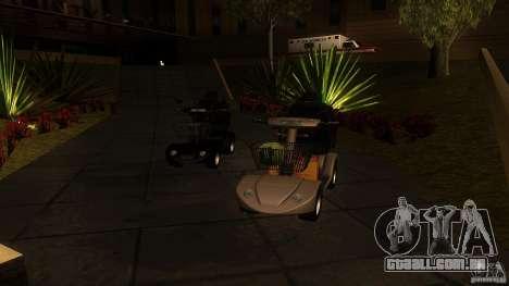 Elektroscooter - Speedy para GTA San Andreas esquerda vista
