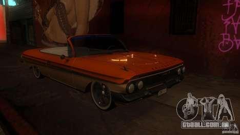 Chevy Impala SS 1961 para vista lateral GTA San Andreas