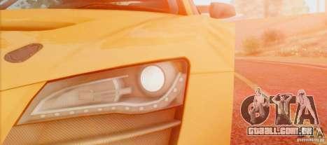 Audi R8 LMS GT3 para GTA San Andreas traseira esquerda vista