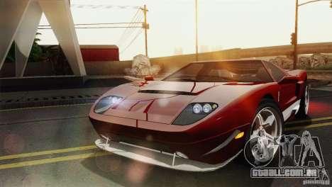 Bullet GT from TBOGT para GTA San Andreas traseira esquerda vista