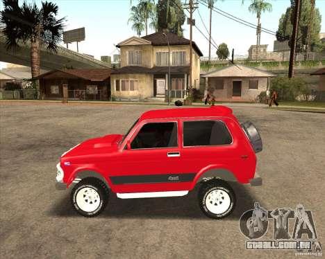 VAZ 21213 4 x 4 para GTA San Andreas vista inferior