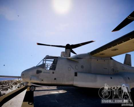 Osprey MV-22 para GTA 4 traseira esquerda vista