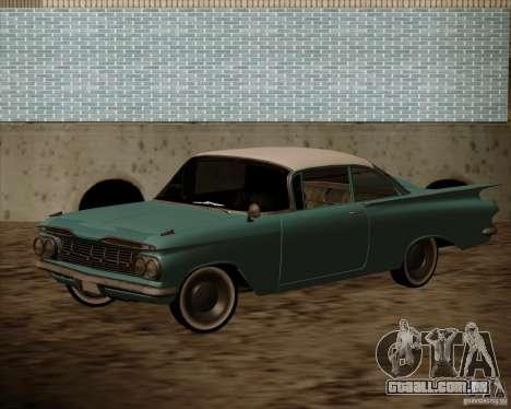 Chevrolet Impala 1959 para GTA San Andreas traseira esquerda vista