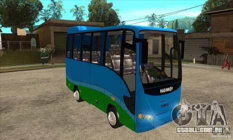 Iveco Eurocity para GTA San Andreas vista traseira
