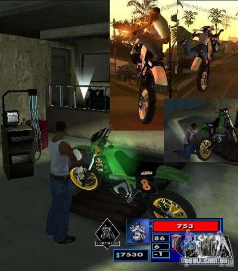 O script CLEO: Mototûning e Freestyle Motocross para GTA San Andreas segunda tela