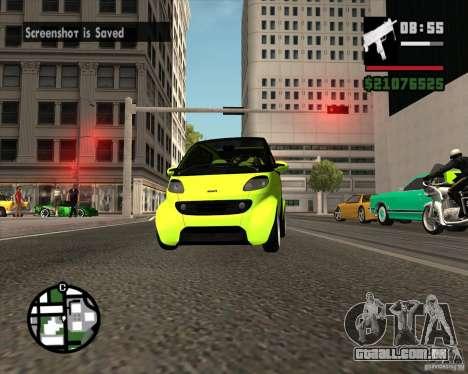 Smart Alienware para GTA San Andreas vista traseira