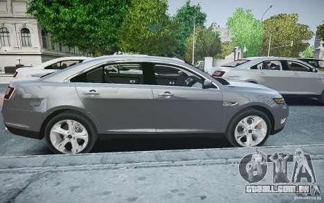 Ford Taurus SHO 2010 para GTA 4 esquerda vista