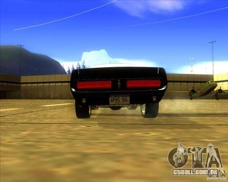 Shelby GT500 Eleanora clone para GTA San Andreas traseira esquerda vista