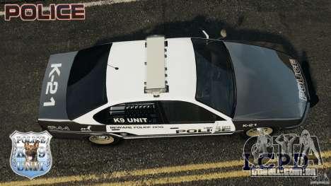 LCPD K9 Unit para GTA 4 vista direita
