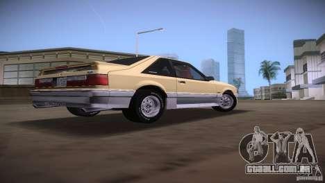 Ford Mustang GT 1993 para GTA Vice City vista traseira