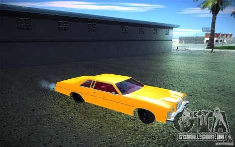 Ford LTD Coupe 1975 para vista lateral GTA San Andreas