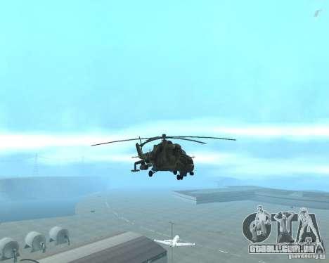 Mi-24 p para GTA San Andreas vista traseira