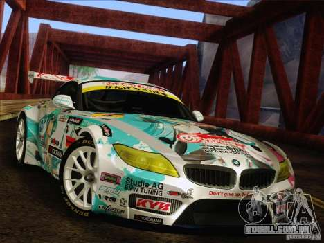 BMW Z4 E89 GT3 2010 Final para vista lateral GTA San Andreas
