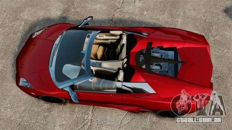 Lamborghini Reventon Roadster 2009 para GTA 4 vista direita