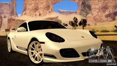 Porsche Cayman R 987 2011 V1.0 para GTA San Andreas vista superior