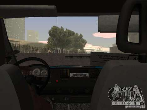 Táxi de gazela para GTA San Andreas vista direita