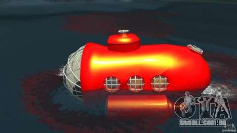 Submarine para GTA 4 esquerda vista