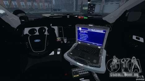 Ford Explorer NYPD ESU 2013 [ELS] para GTA 4 vista de volta