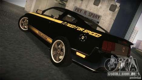 Shelby GT500 Terlingua para GTA San Andreas vista direita