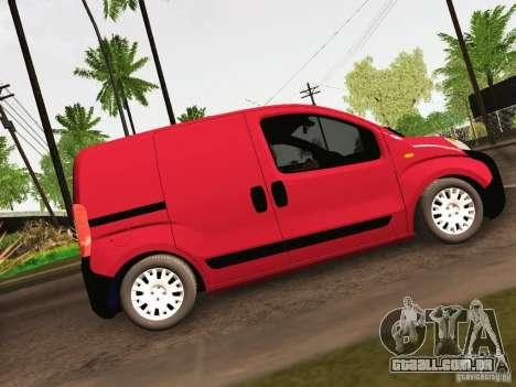 Peugeot Bipper para GTA San Andreas vista traseira
